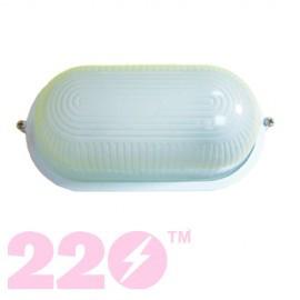 Светильник банник LED-WPE- 5W 220mm aluminium 2835smd 28шт 500Lm 6500 K IP20 овал