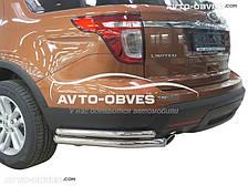 Защита заднего бампера для Ford Explorer 2013-2015, двойные углы