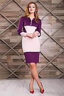 """Donna-M Платье """"Фьюри"""" (бордовый+кремовый) 2000000032597"""