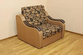 Кресло-кровать Адель 0,8 Нео флок голд браун и Нео голд браун (Катунь ТМ)