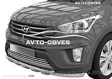 Защита переднего бампера Hyundai Creta 2016 - ... двойной ус с грилем