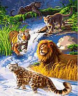 Картина для рисования Хищники (BK-GX4678) 40 х 50 см [Без коробки]