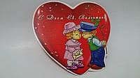 Валентинка для украшения подарка на День Влюбленных