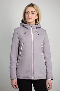 Куртка женская демисезонная Urban Planet AW3 GREY серо-фиолетовая размеры XS S M
