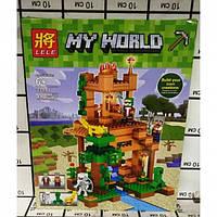 Конструктор Lele 33111 Майнкрафт Minecraft Высокая база 410 дет