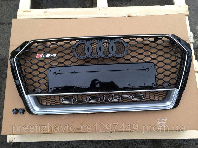 Решетка радиатора на Audi A4 (2015-...) в стиле RS4