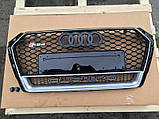 Решетка радиатора на Audi A4 (2015-...) в стиле RS4, фото 2