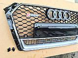 Решетка радиатора на Audi A4 (2015-...) в стиле RS4, фото 3