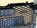Решетка радиатора на Audi A4 (2015-...) в стиле RS4, фото 7