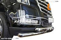 Защита переднего бампера Cadillac Escalade 2014 - 2018 двойной ус с грилем (под заказ)