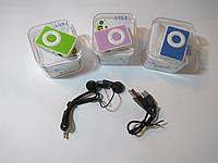 Mini mp3 Player (мини мп3 плеер) 3 цвета с наушниками и шнуром юсб