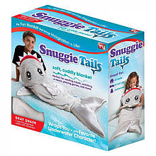 SNUGGIE TAILS - Плед в форме акулы