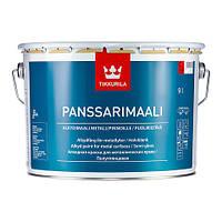 Полуглянцевая алкидная краска для металлических крыш Панссаримаали (Panssarimaali), Tikkurila, C, 9л