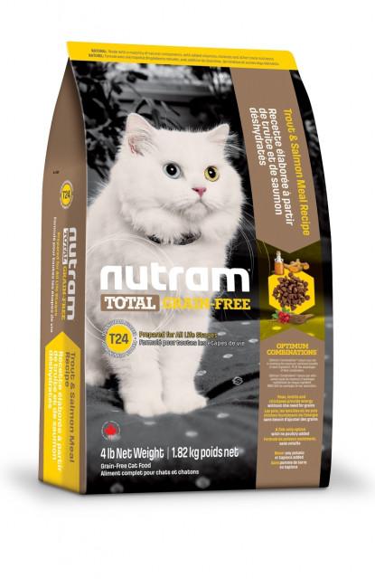 Nutram CAT GRAIN-FREE Salmon & Trout 1.8 кг - беззерновой холистик корм для кошек (лосось/форель)