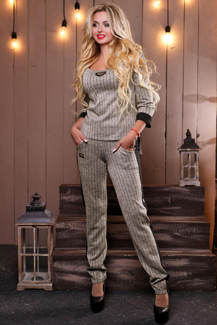 Стильный женский Костюм 2481 серый (S-M)