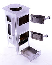 Стальная печь/ буржуйка Acap 16 на 190 м2,16 шамотных кирпичей, фото 2
