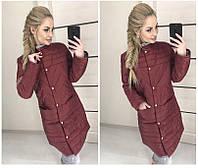 Женская куртка на кнопках, с карманами, воротник стоечка(42-48 р) 77П25