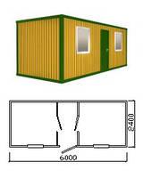 Бытовка | Вагончик | Прорабская размер 9 х 2,4 м с железным каркасом. Доставка по Украине. Гарантия