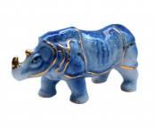 Носорог синий керамический