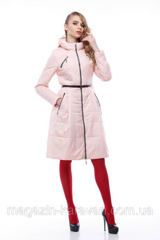 Модное весеннее пальто Аврора персик