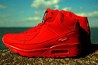 Кроссовки женские зимние Nike Air Max красные