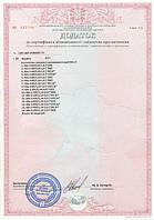 Сертификат на новые контакторы 80А, 160А и 400А.