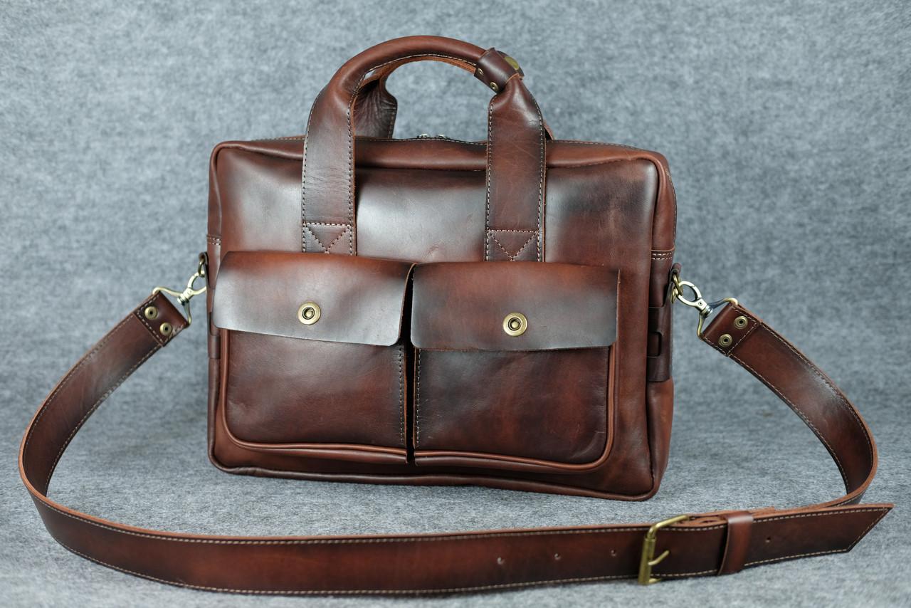Портфель с карманами |10185| Италия | Вишня
