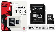 Карта памяти microSDHC 16GB Kingston Class10