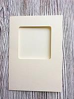 Заготовка для открытки с конвертом бежевая 10,5*14,8см 3шт, фото 1