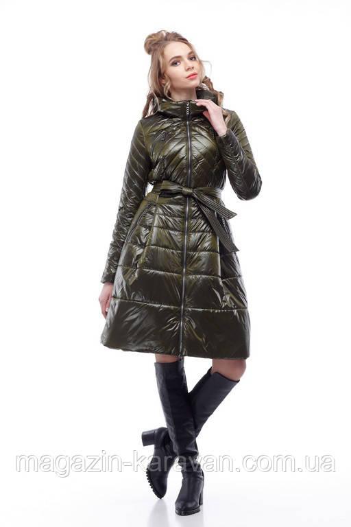 Модное весеннее пальто Аврора хаки