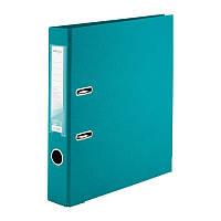 Папка-регистратор 5 см, двухсторонняя бирюзовая. Delta D1711-16C