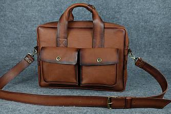 Портфель с карманами |10186| Италия | Коричневый
