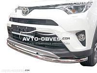 Защита переднего бампера для Toyota Rav4 2016-… одинарный ус