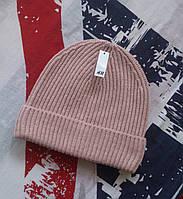 Женская шапка пудрово-розовая шерстяная H&M, Англия