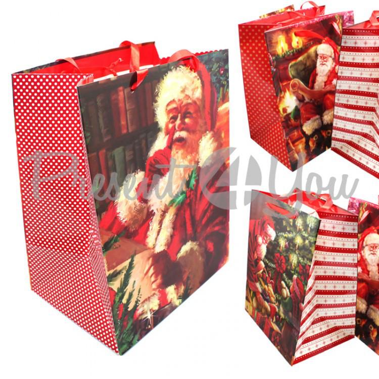 Пакет подарочный «Jingl bells» в ассортименте,32х24,5х18 см (344-0033)