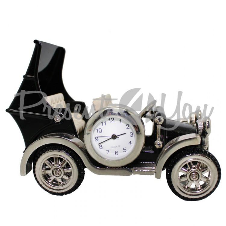 Ретро автомобиль с часами, h-8,5 см (210-6009)