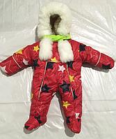 """Комбинезон детский теплый на меху с капюшоном 62р """"Расцветка 2"""""""