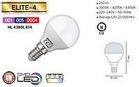 Светодиодная LED лампа Horoz Electric, 4W, 3000K, 220V, шар, Е14, Elite-4