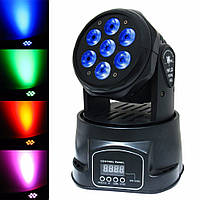 ЦВЕТОМУЗЫКА DMX-512 4 В 1 RGBW Mini Moving Head Light LED Stage Light