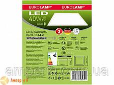 Светодиодный светильник 60*60 (панель) белая рамка EUROLAMP LED 40W 4000K , фото 3