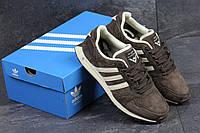 Кроссовки adidas NEO, цвет - коричневый, материал - замша, подошва - пена (легкая и удобная)