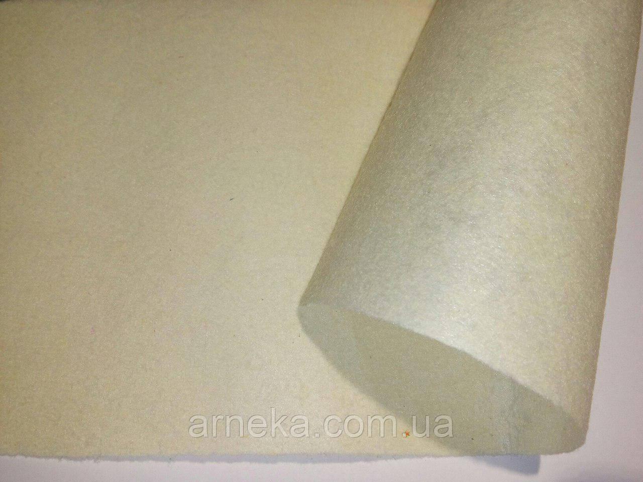 Фетр 20*25см, толщина 1 мм кремовый