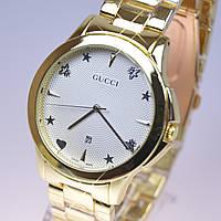 Женские наручные часы Gucci Gold B24 с календарем