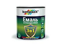 """Эмаль антикоррозийная """"3 в 1"""" серебристая 2,4 кг"""