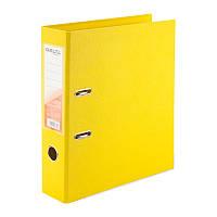 Папка-регистратор 7,5см, двухсторонняя желтая. Delta D1712-08C