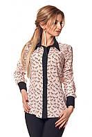 Стильная женская рубашка с оригинальным принтом зебра