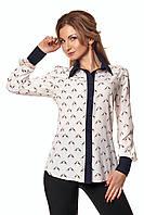 Стильная женская рубашка с оригинальным принтом жирафы