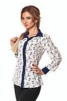 Стильная женская рубашка с оригинальным принтом якоря
