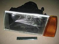 Фара ВАЗ 2108, 2109, 21099 левая. Оранжевый поворотник. Черный корпус (пр-во Формула Света). Цена с НДС