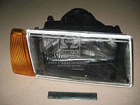 Фара ВАЗ 2108, 2109, 21099 правая. Оранжевый поворотник. Черный корпус (пр-во Формула Света). Цена с НДС